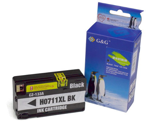 NP-H-0711XL BK (HP711 with chip with ink level) (PG)